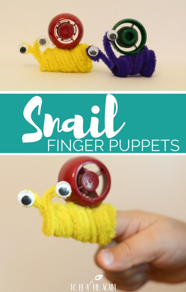 Snail Finger Puppets