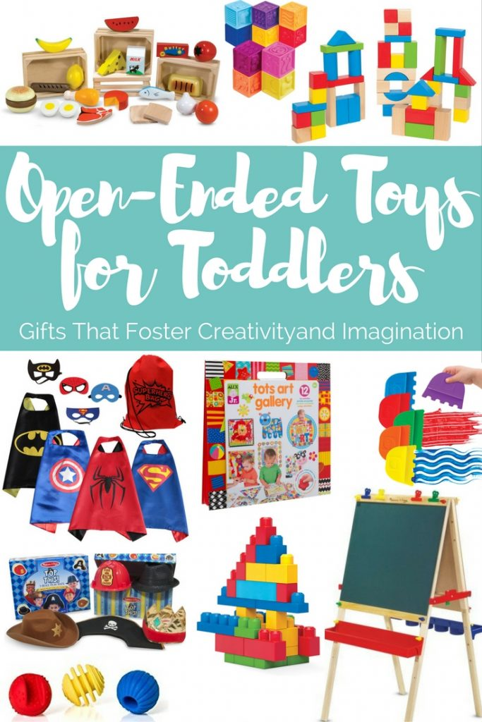 Open ended toys for toddlers is a gift guide that includes toys that foster creativity and imagination