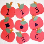 Apple scavenger hunt for shapes, numbers, letters, sight words and more!