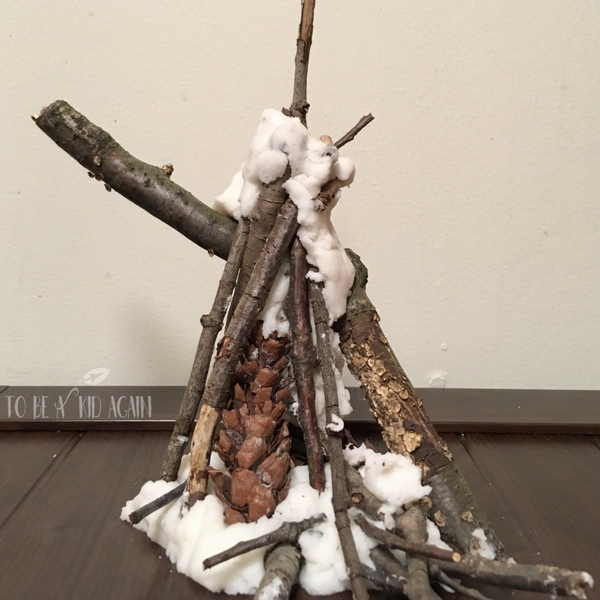 Snowy Scene Clay Nature Sculpture Kids Process Art Activity