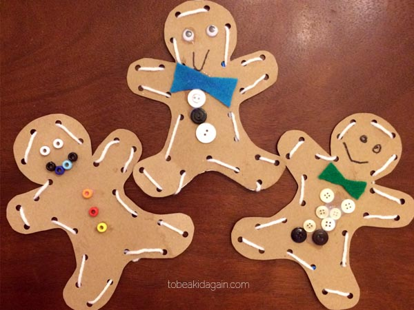 Gingerbread Man Lacing Activity And Craft To Be A Kid Again