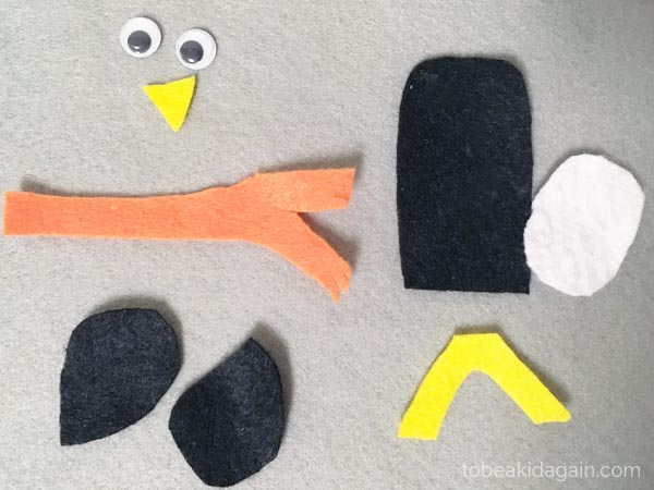 Pinecone penguin Craft for kids. Book inspired nature craft for preschool and kindergarten. Book Activity