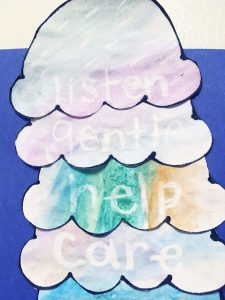 learn about what it takes to be a good friend with these friendship vocabulary words. This water color resist activity magically reveals the friendship words as you talk about what it takes to be a good friend.