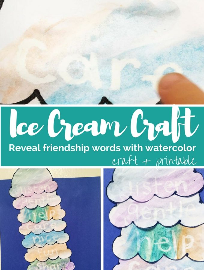 """Friendship Ice Cream: A Craft for """"Should I Share My Ice Cream?"""" by Mo Willems"""
