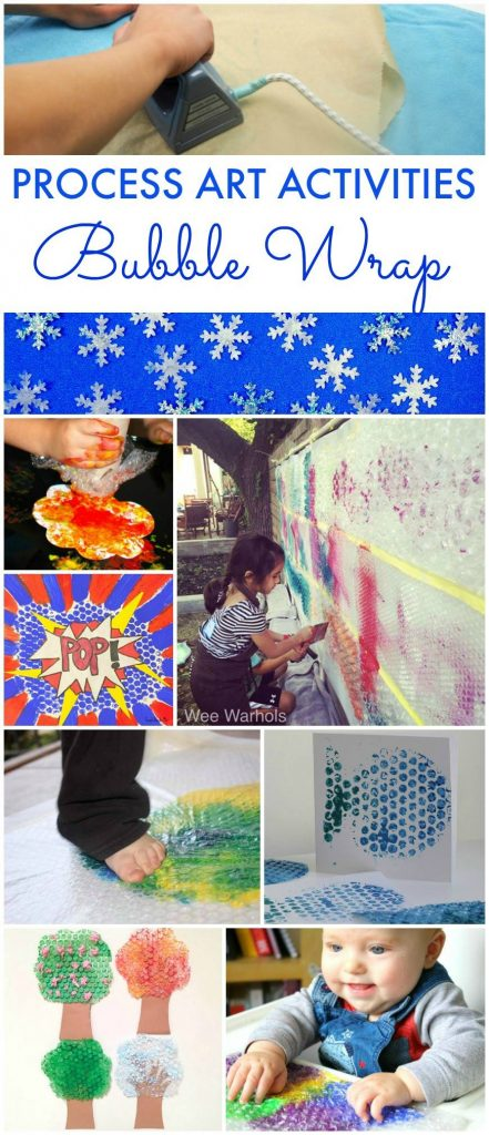 bubble wrap process art activities