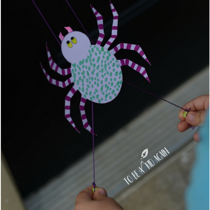 DIY Spider Climbing Toy to go with the very busy spider - STEM Craft