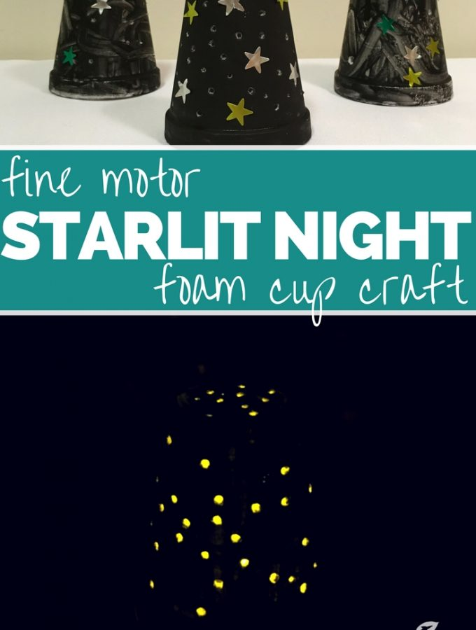 Starlit Night in a Cup! A Fine Motor Craft for Kids