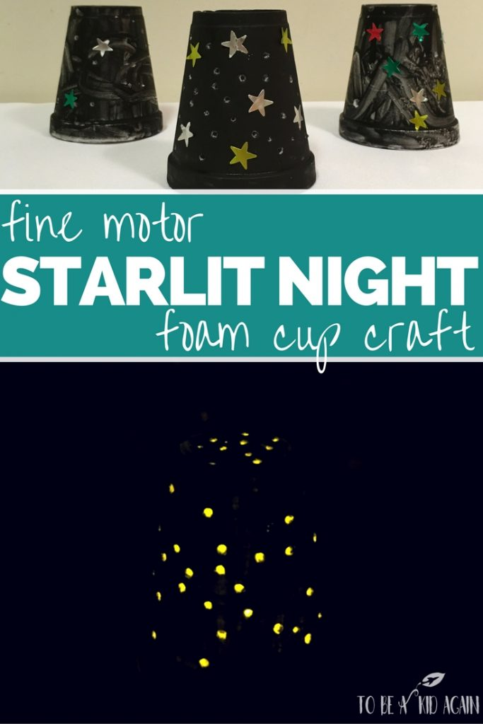 Fox Makes It Up As They Go Along >> Starlit Night in a Cup! A Fine Motor Craft for Kids - Creative Little Explorers
