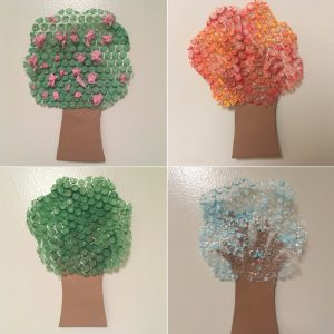 bubble wrap tree craft
