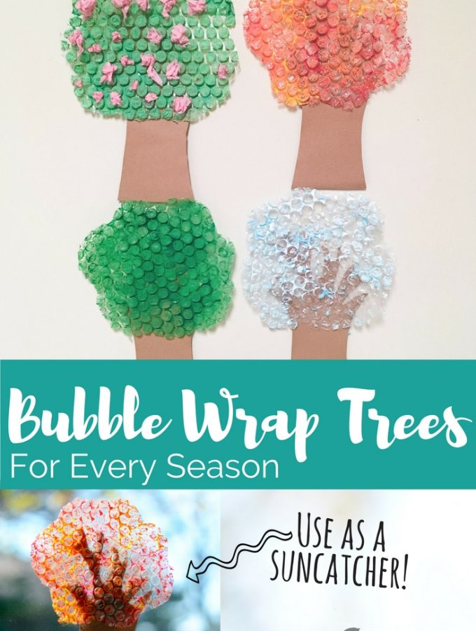 Bubble Wrap Trees for Every Season