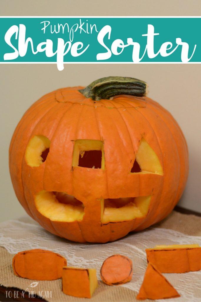 Pumpkin shape sorter and jack-o-lantern