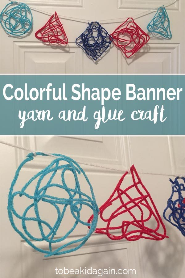 Colorful Yarn Shape Banner