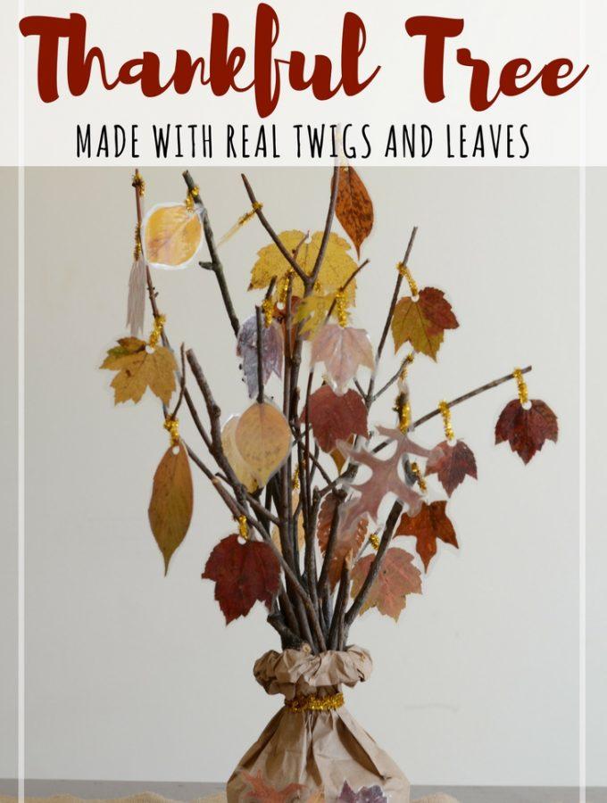 gratitude thankful tree craft for kids
