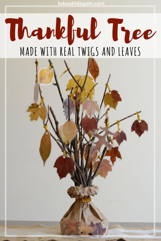 Thankful tree thanksgiving centerpiece for kids creative