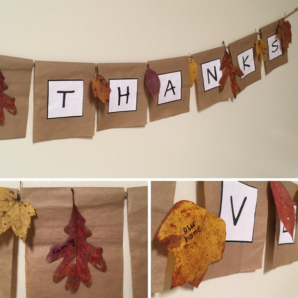 Gratitude Leaves and Thankful Banner