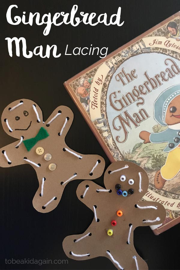Gingerbread Man Lacing Activity and Craft for