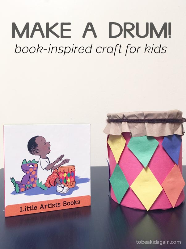 Multicultural Children's Book Day book and drum craft toddlers