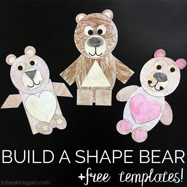 Build A Shape Bear Paper Craft Creative Little Explorers