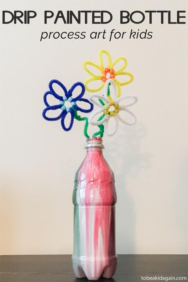 Painted Recycled Bottle Process Art
