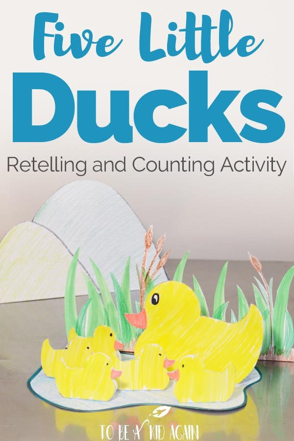 Five Little Ducks Counting and Story Retelling Activity