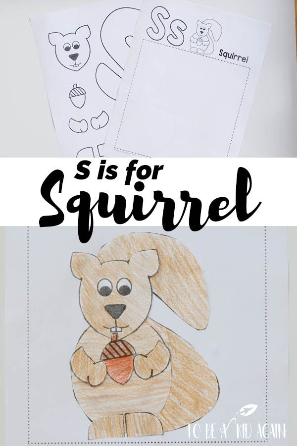 S is for Squirrel Alphabet Cut And Paste Craft