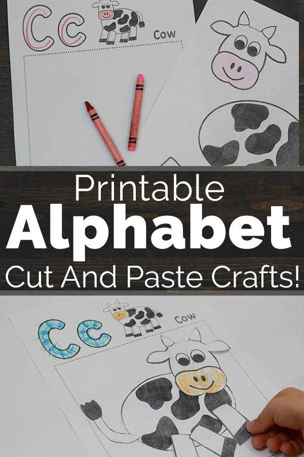 Printable Alphabet Cut And Paste Crafts