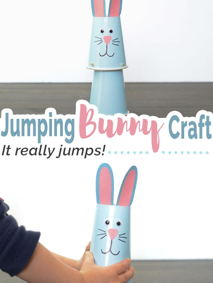 Jumping Bunny Cup Craft