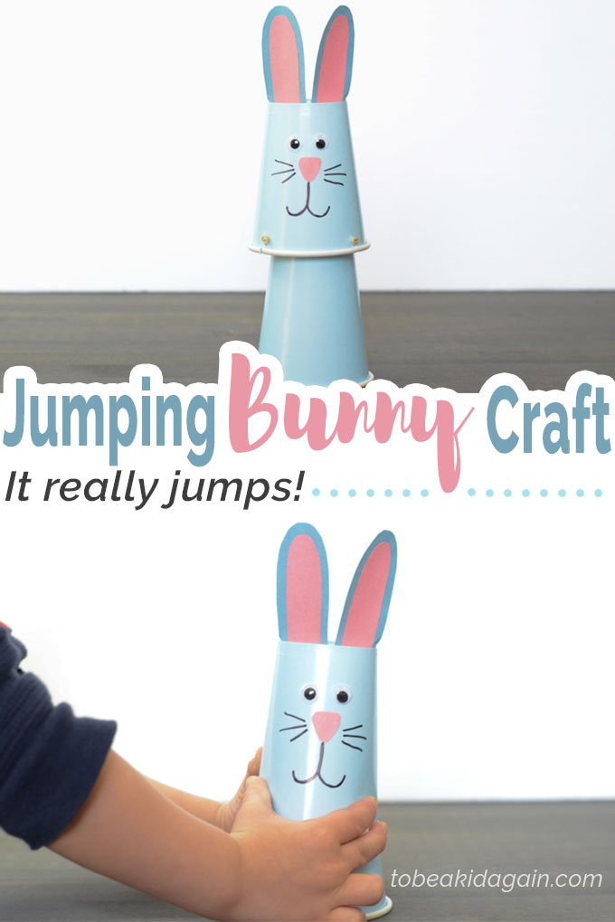 Jumping Bunny Cup Craft Creative Little Explorers