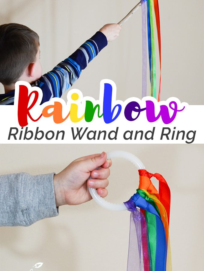 Rainbow Ribbon Wand and Ring for Movement Activities