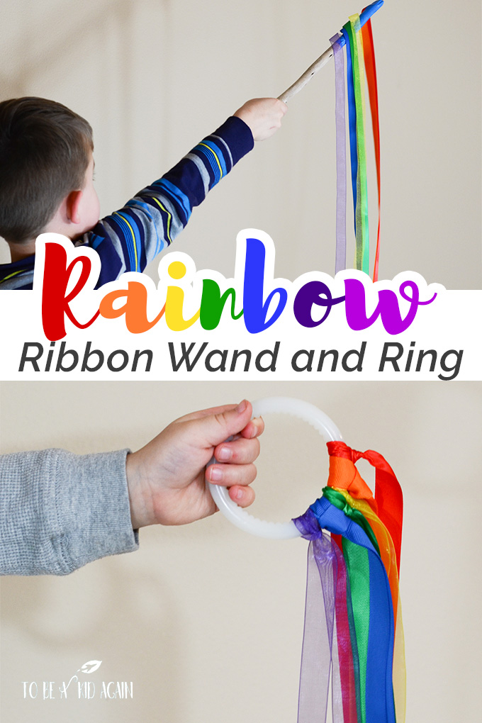 Rainbow Ribbon Wand And Ring For Movement Activities Creative