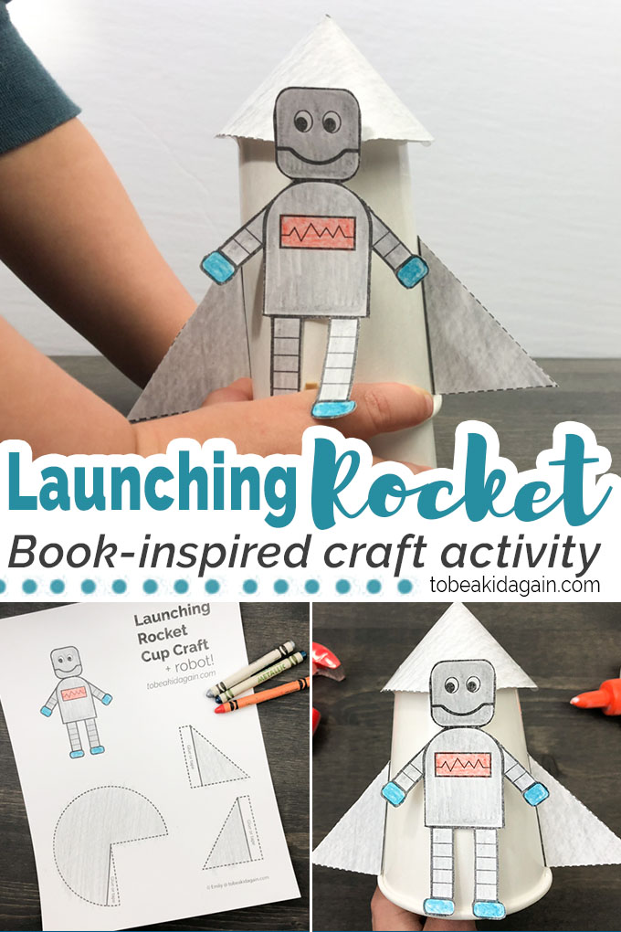 photo relating to Rocket Printable called Launching Rocket and Robotic Cup Craft + Printable and STEM